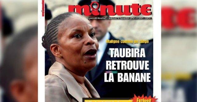 """Francia, ancora razzismo contro ministro Taubira. """"Ritrova la tua banana"""""""
