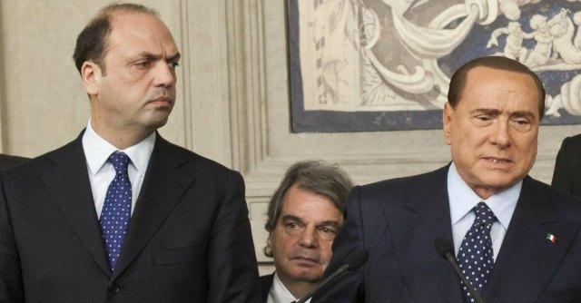 Angelino Alfano,Renato Brunetta e Silvio Berlusconi