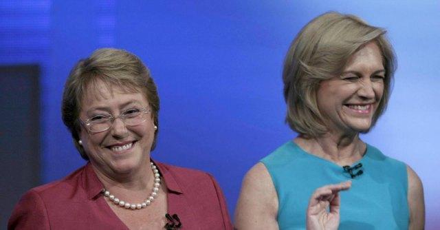 Michelle Bachelet e Evelyn Matthei