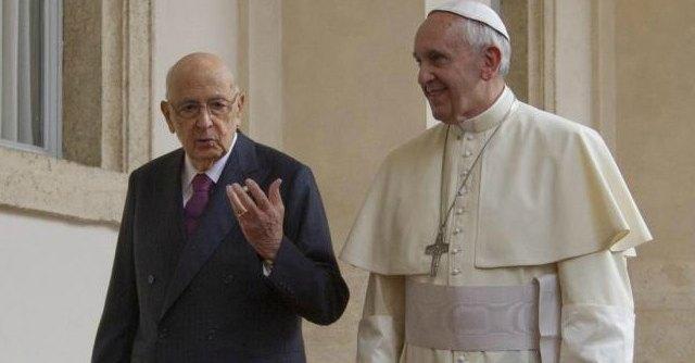 Bergoglio e Napolitano