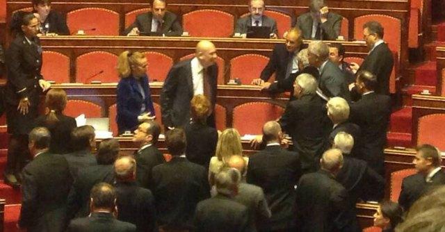 Palo in movimento decadenza berlusconi voto in for Parlamento in diretta