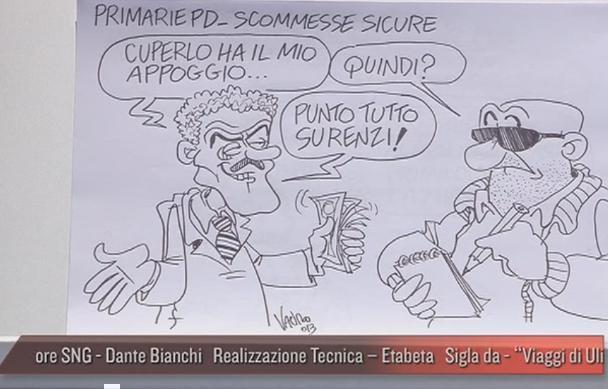 Servizio Pubblico, le vignette di Vauro: dalle palle d'acciaio di Letta ai figli di Berlusconi