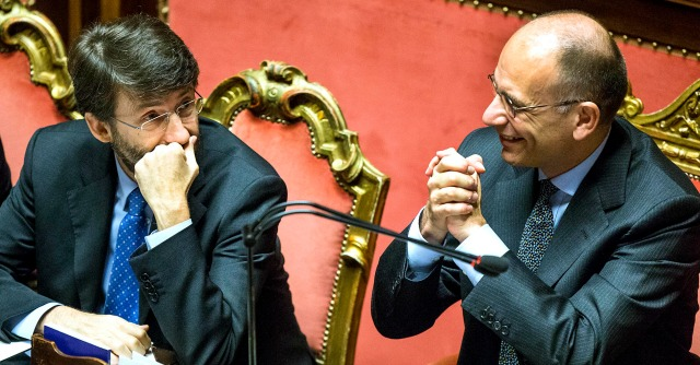 Dario Franceschini ed Enrico Letta