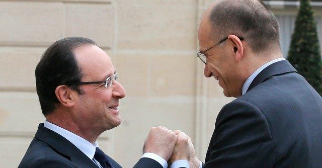Letta e Hollande