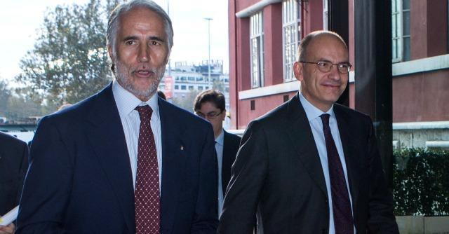 Enrico Letta e Giovanni Malagò