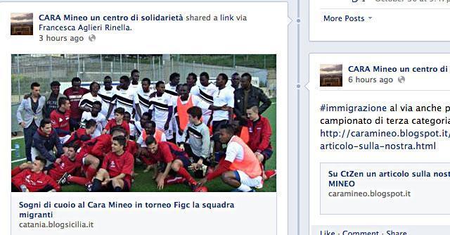 Catania, la squadra del Cara di Mineo giocherà in terza categoria