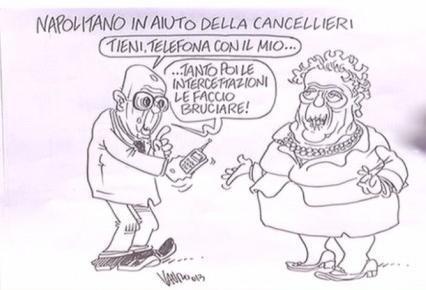 Servizio Pubblico, le vignette di Vauro: dal caso Cancellieri alla scissione del Pdl