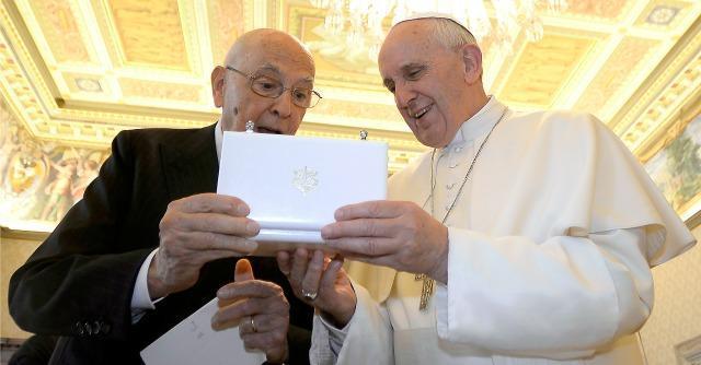 Napolitano e Bergoglio