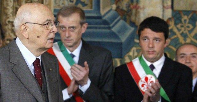Renzi e Napolitano