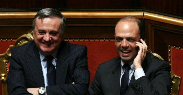 Maurizio Sacconi e Angelino Alfano
