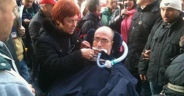 Protesta malati di Sla