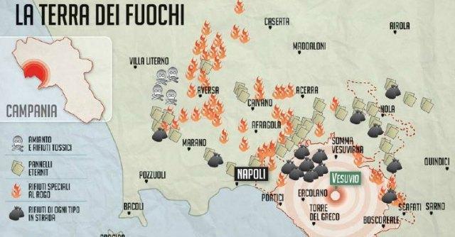 Napoli, la terra dei fuochi: aria infetta, rifiuti e tumori attorno al Vesuvio