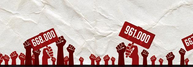 Sindacati in piazza, infografica: ormai lo sciopero è per pochi intimi