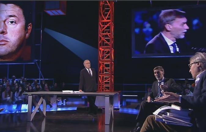 """Servizio Pubblico, Delrio vs Sgarbi: """"La revisione del Senato"""""""