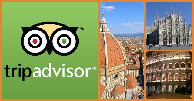 Viaggi, italiani sul podio di TripAdvisor per numero di recensioni
