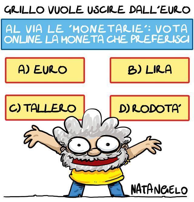 La vignetta del giorno: Uscire dall'euro