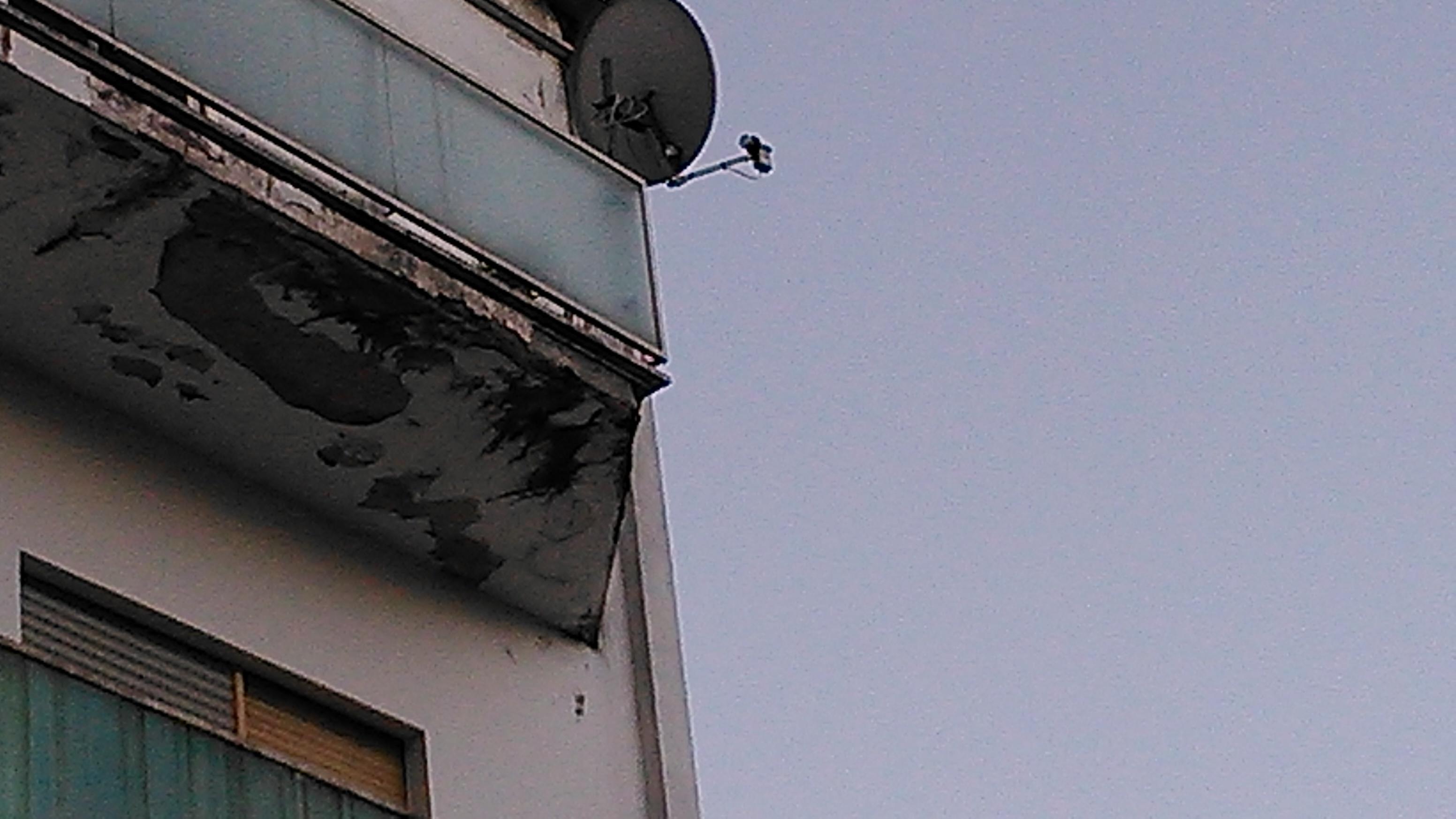 I balconi non sono agibili