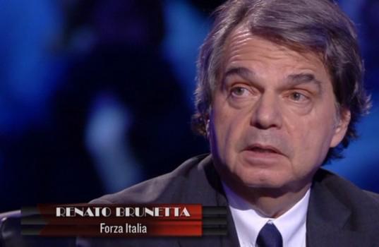 """Servizio Pubblico, Brunetta: """"Su Napolitano non sono troppo lontano da Travaglio"""""""