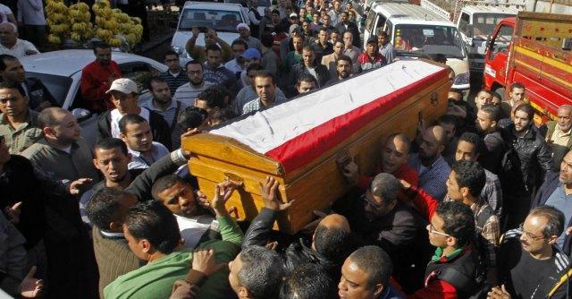 funerale studente ucciso cairo
