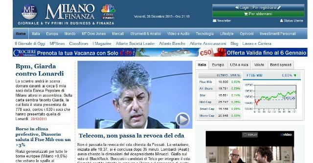 Editoria e banche, anche la Popolare di Vicenza nell'azionariato di Class