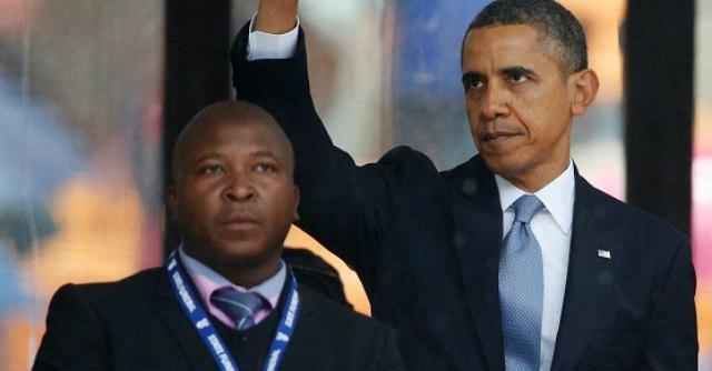 Obama alla cerimonia di Mandela