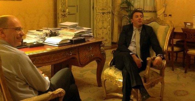 Matteo Renzi ed Enrico Letta