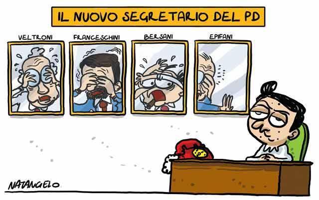La vignetta del giorno: Renzi, il nuovo segretario