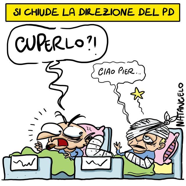 La vignetta del giorno: Renzi e Cuperlo