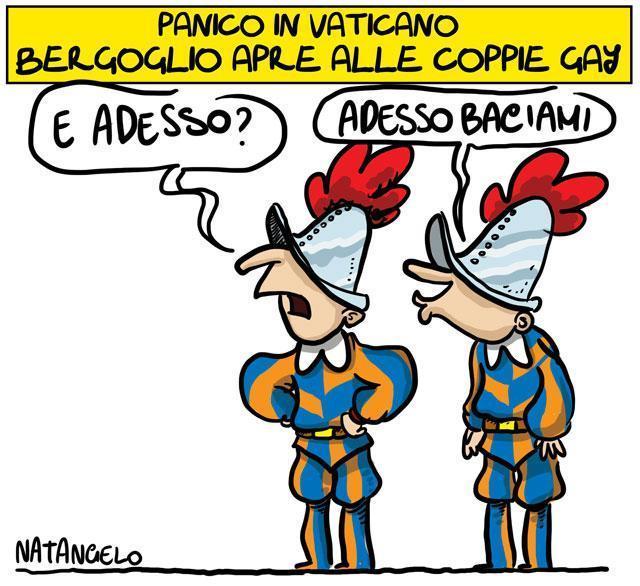 La vignetta del giorno: Gay in vaticano