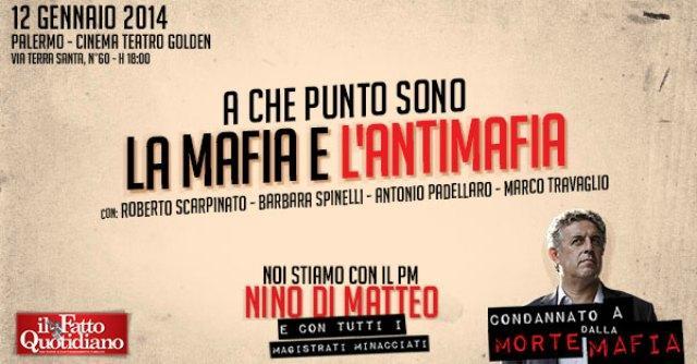 """Mafia, """"Noi stiamo con il pm Nino Di Matteo e i magistrati minacciati"""""""
