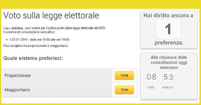 Legge Elettorale - Referendum 5 Stelle