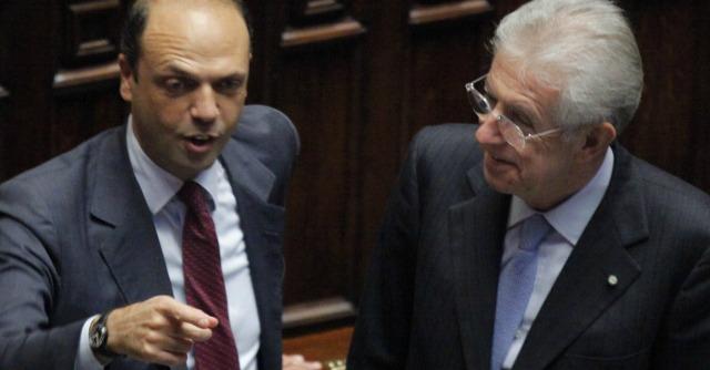 Angelino Alfano e Mario Monti