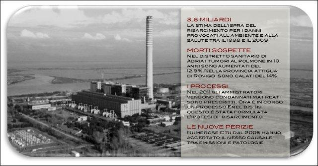 """Centrale Enel di Porto Tolle, """"il danno economico da risarcire è 3,6 miliardi"""""""