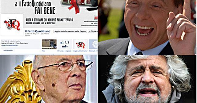Berlusconi, Grillo ed elezioni: top keywords e condivisioni social su ilfattoquotidiano.it