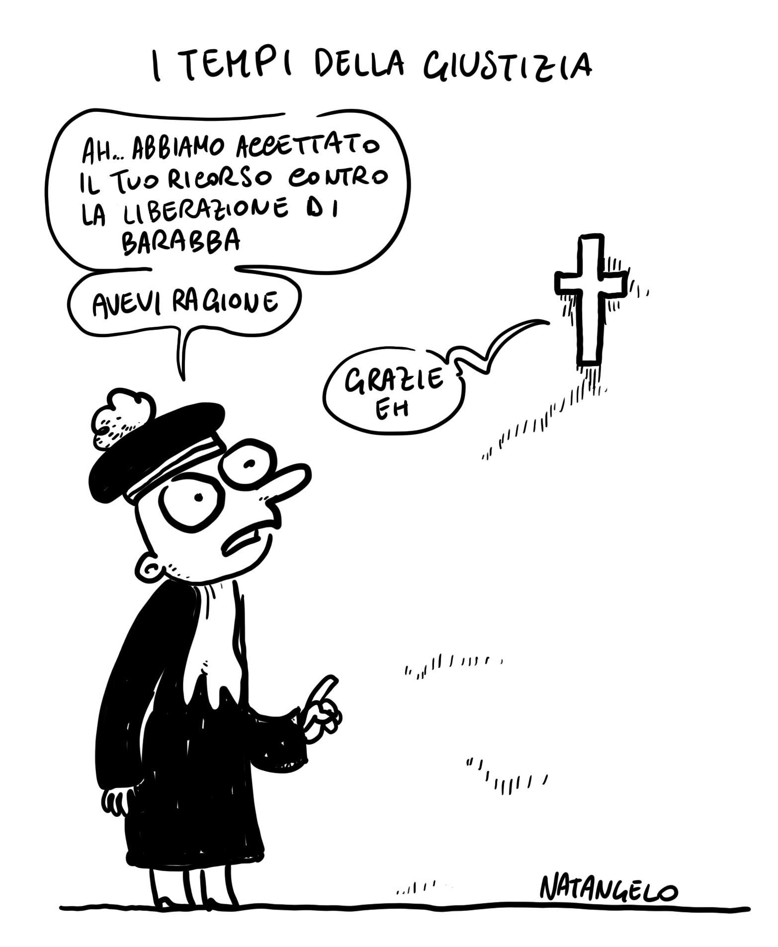 La vignetta del giorno: Tempi della giustizia