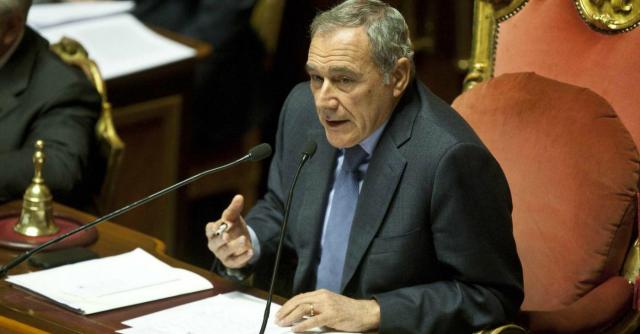 """Riforme, Grasso contro Renzi: """"Italicum più abolizione Senato rischio democrazia"""""""
