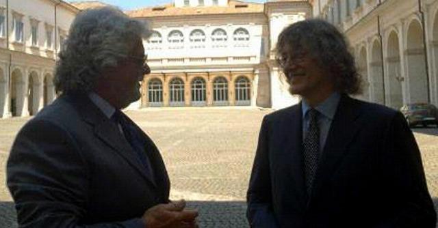 Grillo e Casaleggio al Quirinale
