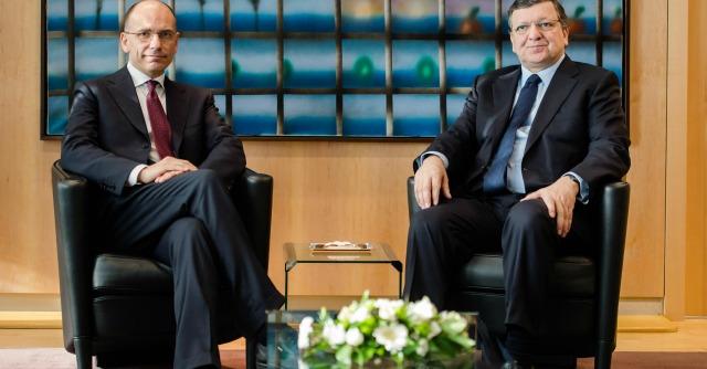 Enrico Letta e Jose Manuel Barroso