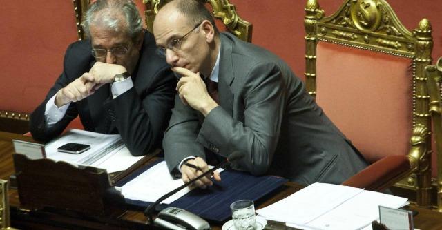 Fabrizio Saccomanni ed Enrico Letta