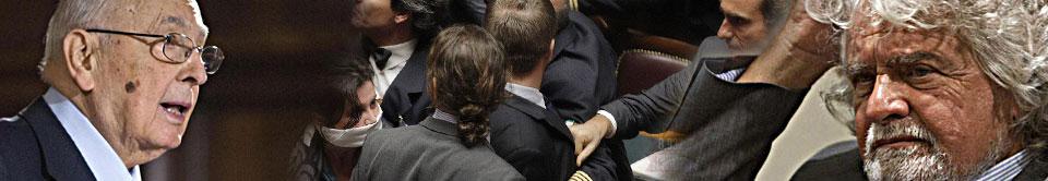 """Grillo: """"Siamo noi la nuova Resistenza"""" Boldrini: """"Violenza M5S, ora sanzioni"""""""