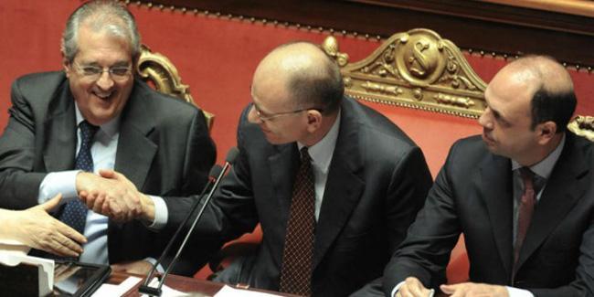 Saccomanni, Letta e Alfano