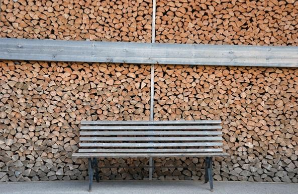 Architettura: panchina, di legno