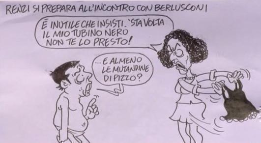 Servizio Pubblico, le vignette da Vauro: da Berlusconi a Hollande al caso De Girolamo
