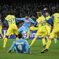 Albiol mette a segno la rete del pari nell' 1 a 1 casalingo contro il Chievo