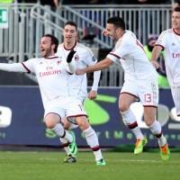 Pazzini all'ultimo minuto regala il successo al Milan di Seedorf in quel di Cagliari