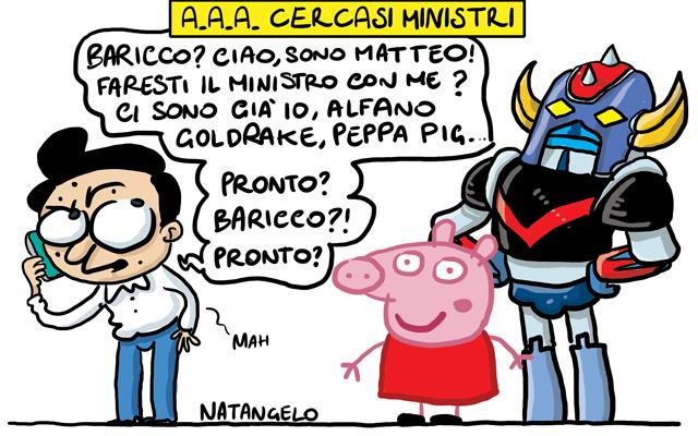 La vignetta del giorno: A.A.A. Cercansi ministri