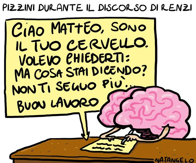 La vignetta del giorno: Il discorso di Renzi