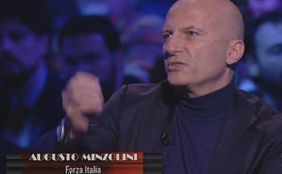"""Servizio Pubblico, Minzolini: """"B. delegittimato da Napolitano, Merkel, Sarkozy"""""""
