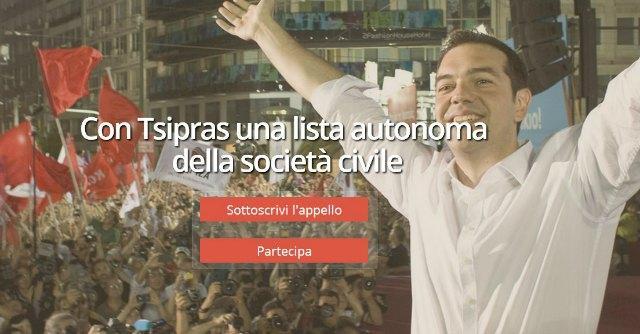 """Nasce """"L'altra Europa con Tsipras"""", la lista della società civile contro l'austerità"""