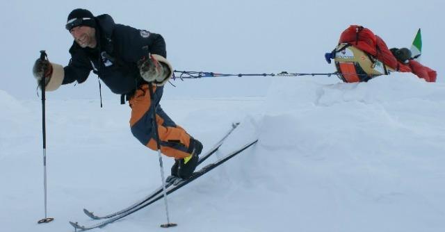 Alpinismo, la sfida di Pontrandolfo: il Polo Nord a piedi senza nessun aiuto